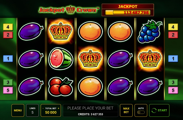 Jackpot Crown slot Novomatic